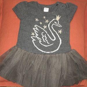 Gray Swan Sweater Tutu Dress